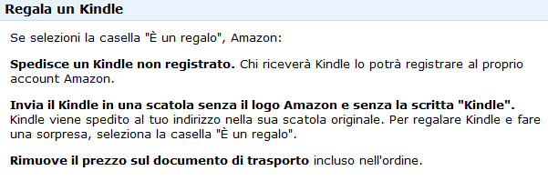 regalo kindle amazon