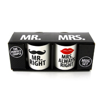 "tazze ""Mr and Mrs Right Mug"""