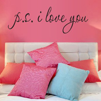 "Adesivo murale ""P.S. I Love You"""