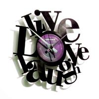 Orologio in Vinile Live, Love, Laugh