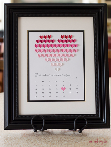quadro calendario san valentino