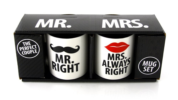 tazza Mr and Mrs Right Mug