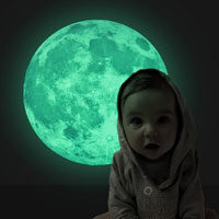 Adesivo Murale Luna Fluorescente