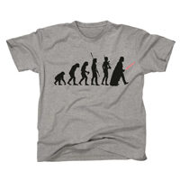 t-shirt star wars evolution