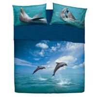 Completo lenzuolo matrimoniale delfini Bassetti