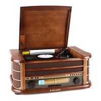 Giradischi in legno con ingressi USB, CD, Radio Tape