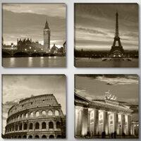 Quadro su tela Londra Parigi Roma Berlino