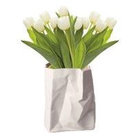 Vaso a forma di sacchetto in porcellana