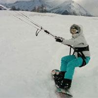 Lezione di Snowkite