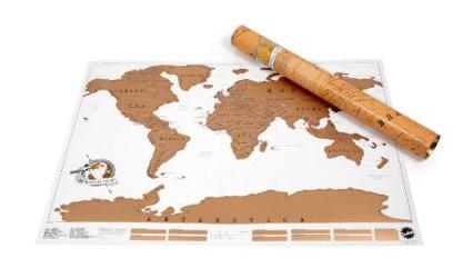 Mappa gratta e viaggia