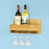 Portabottiglie e bicchieri da parete