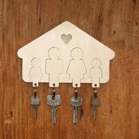 """Portachiavi per la famiglia """"Casa dolce casa"""""""