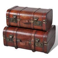 Set Bauli vintage in legno