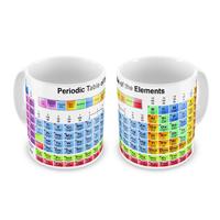 Tazza con tavola periodica degli elementi
