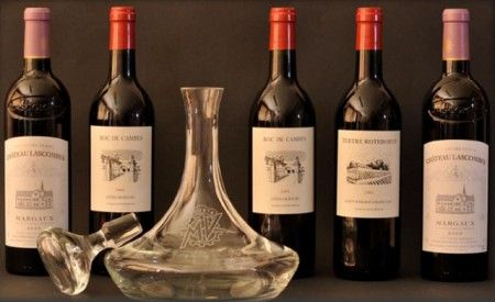 Bottiglia di vino pregiata