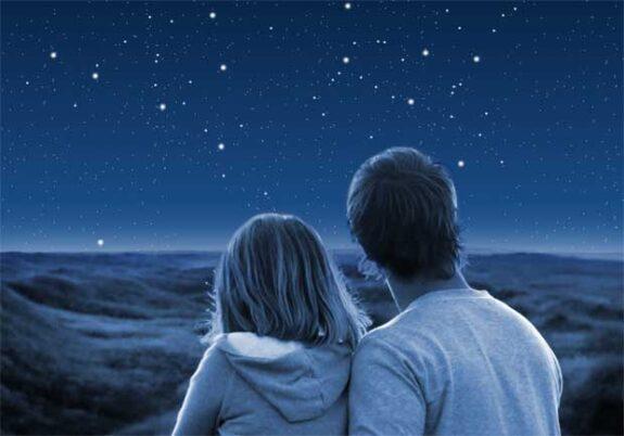 cielo stellato coppia