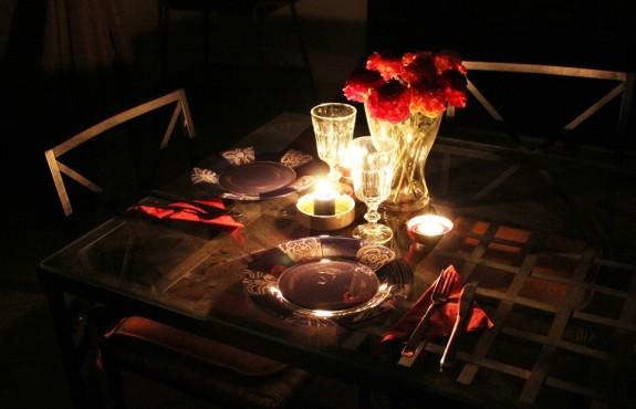 Tavola per cena mesiversario
