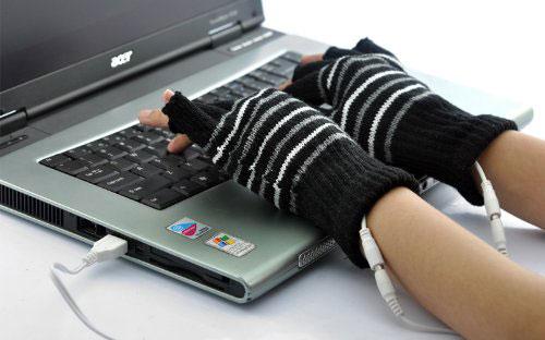 Guanti riscaldanti con attacco USB