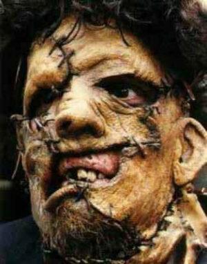 Leatherface Non aprite quella porta maschera per Halloween
