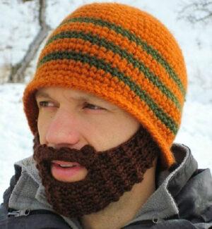 berretto con barba contro il freddo