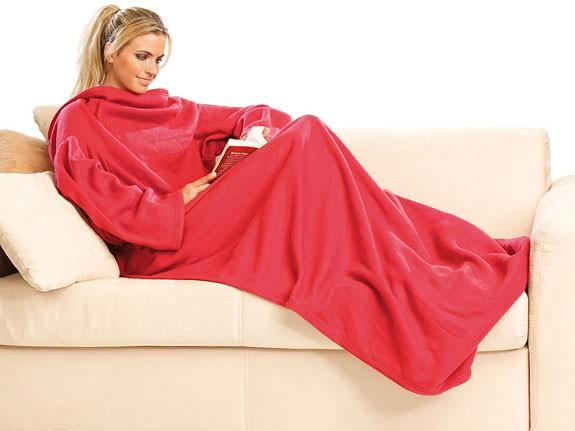 coperta con maniche per il freddo