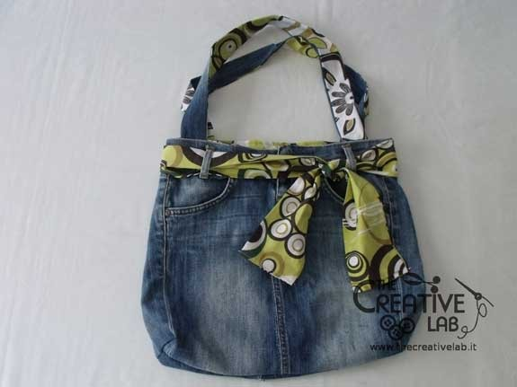 70 regali di natale fai da te for Borsa jeans tutorial