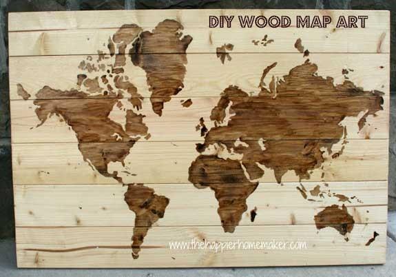 Planisfero in legno fai da te Natale