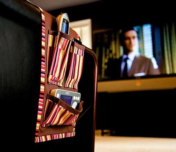 Porta telecomandi per divano fatto a mano