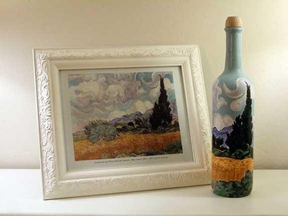 Quadro bottiglia Van Gogh