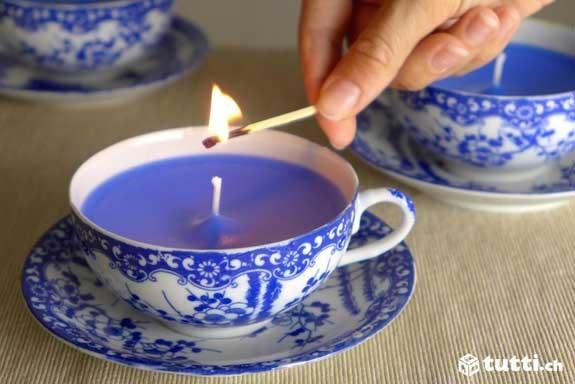 candela tazzina té fai da te