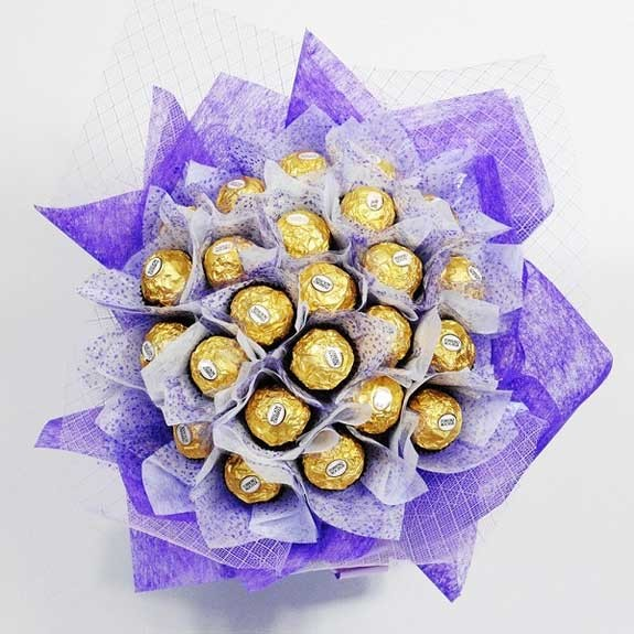 ferrero rocher bouquet fatto a mano