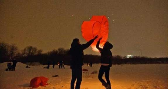 lanterne volanti cuore innamorati