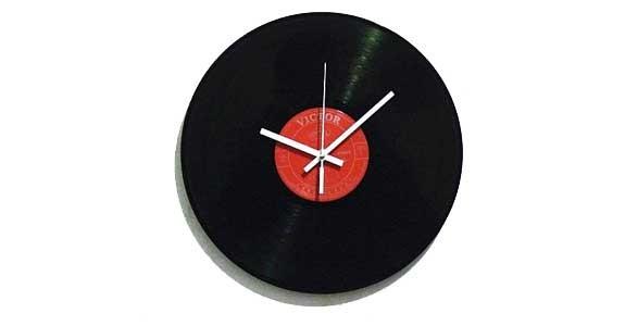 orologio disco di vinile fai da te