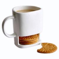 Tazza con tasca per biscotti