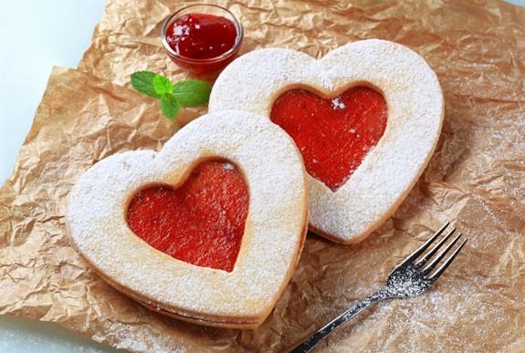 Biscotti cuore di ciliegia