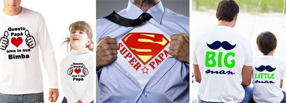 Maglietta con scritte festa papà