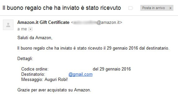 Come regalare un buono regalo amazon italiano sveglia for Regalare buono amazon