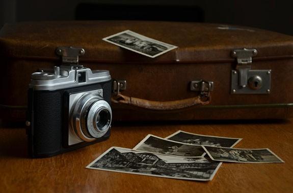 camera fotografica retrò con foto