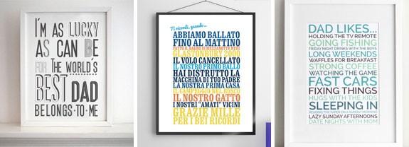 poster personalizzati festa papà