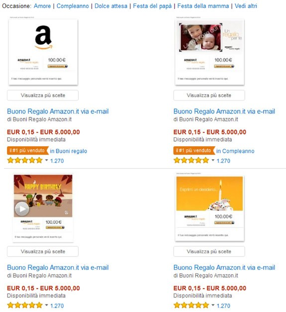 Come regalare un buono regalo amazon informarsi for Regalare buono amazon
