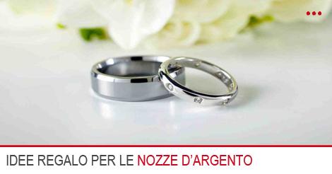 Amato Regali nozze d'argento, le idee regalo per i 25 anni di matrimonio SP08