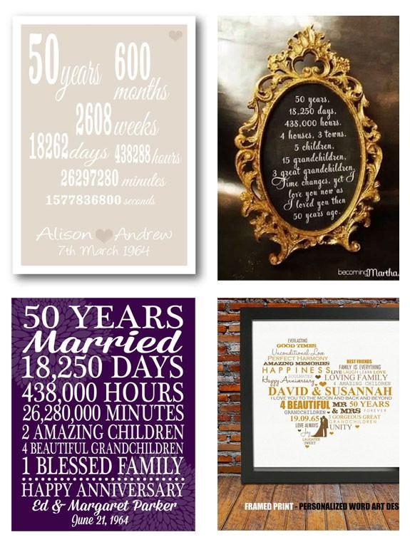 stampe personalizzate nozze d'oro