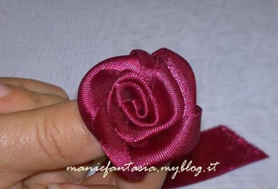 rosa di stoffa raso tutorial laurea