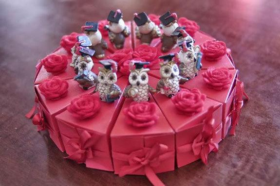 torta di confetti bomboniera laurea idea originale