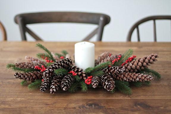 Centrotavola natalizi fai da te 10 idee originali con for Idee per centrotavola natalizi