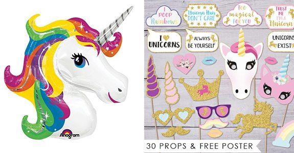 regali unicorno foto e palloncini