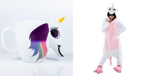 regali unicorno tazza e pigiama