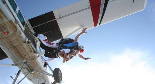 Lancio tandem con paracadute - Fermo