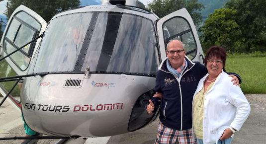 Volo in elicottero - Zona Renon