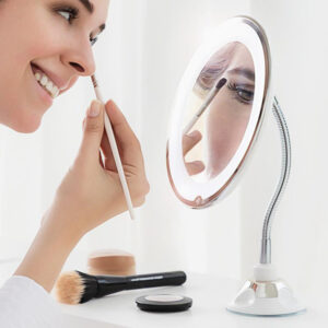 Specchio LED con Lente d'Ingrandimento